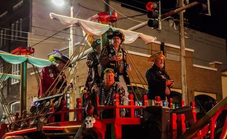 Pirates in the Sant' Yago Illuminated Knight Parade during Gasparilla Season in Tampa