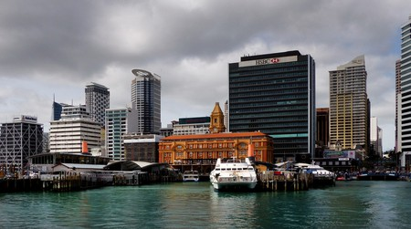 The Ferry Building and Terminal in Auckland