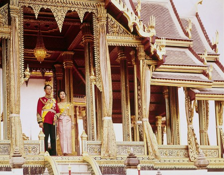 A young Thai Queen with the late King