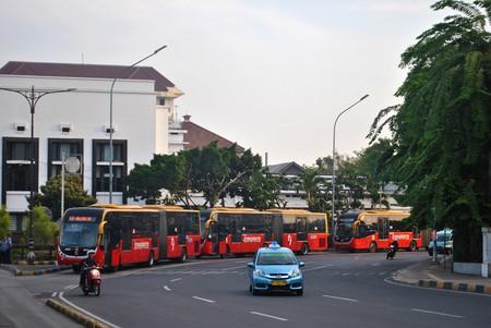 Transjakarta buses | © Everyone Sinks Starco / Flickr