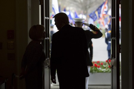 President Donald Trump at The White House, April 3, 2017 (Official White House Photo by Benjamin Applebaum)