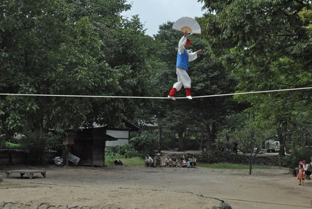 Traditional Korean tightrope