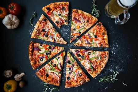 Delicious Gourmet Pizza and Beer