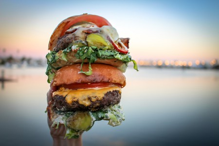 An epic burger from Stuffed!