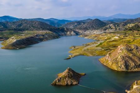 Spectacular view of Kalavassos Dam, Cyprus