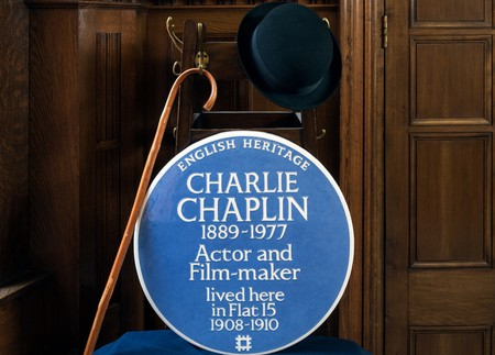 The plaque for Charlie Chaplin can be seen at 15 Glenshaw Mansions in Brixton