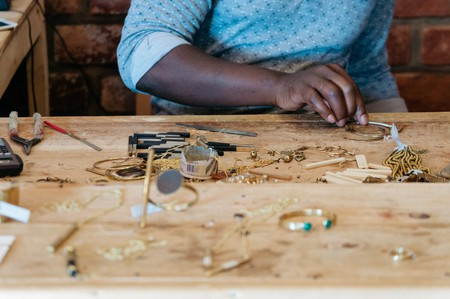 Abraham Konga's upcycled jewelry