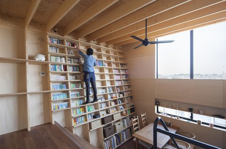 The bookshelf has been designed to be easily accessible