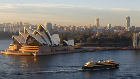 Manly ferry in Sydney Harbour