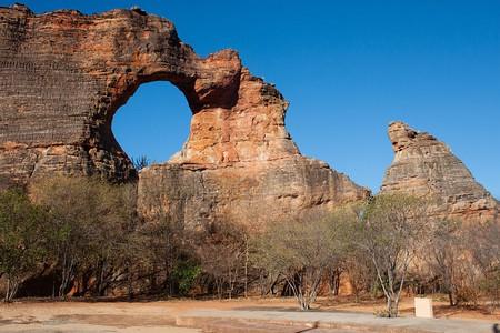 The famous 'Pedra Furada' in Serra da Capivara National Park in Piaui, Brazil