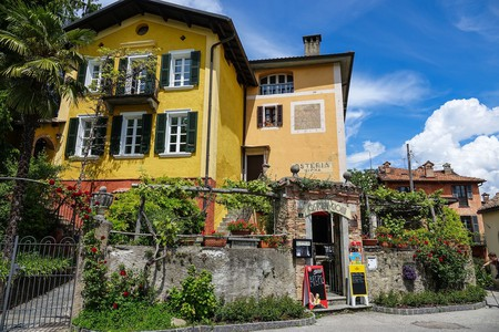 Al fresco dining in Carona, Switzerland