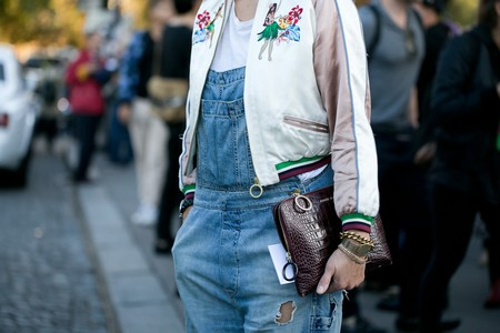 Street style model with Paule Ka handbag