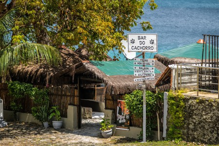 The Bar do Cachorro - Dog Bar - in Fernando de Noronha, Brazil