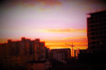 Sunset over Priština