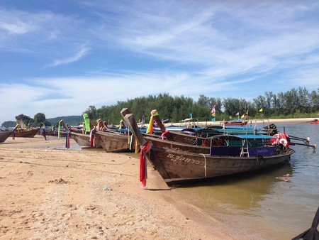 Boats are a common transportation method in Krabi