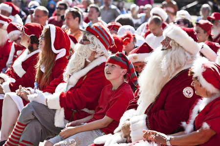 The World Santa Claus Congress in Bakken, Denmark