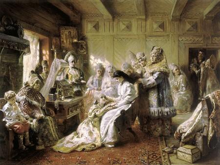 Konstantin Makovsky, Russian Bride's Attire, 1884