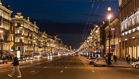 Nevsky Prospekt at night