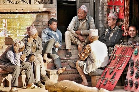 Nepali men having a chat