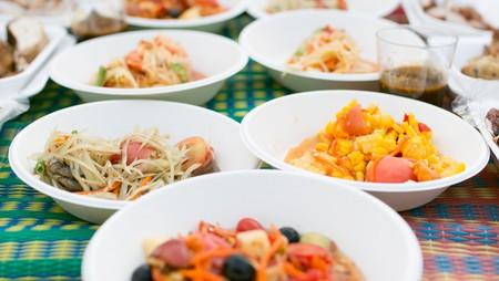An assortment of Thai food