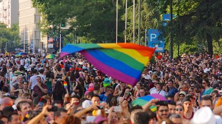 Crowds at Madrid Pride in 2015
