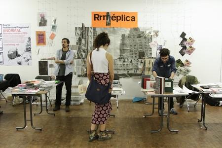 The exhibitors' area at Miss Read Berlin Art Book Festival