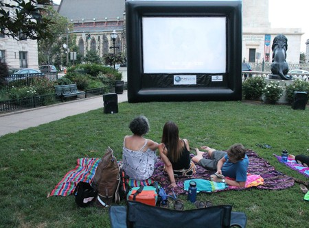 Movie Night at Summer in the Squares in Mount Vernon, Baltimore