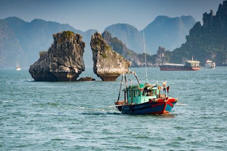 Fishing boat in Ha Long Bay, Vietnam