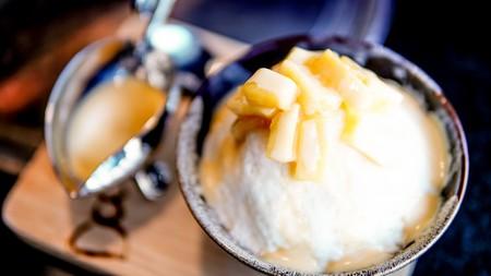 A modern twist on bingsu, Korean shaved ice