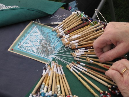 Traditional lace-making