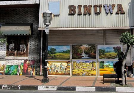 Paintings on Jalan Braga, Bandung