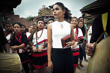Traditional Newari dress meets Tissah's modern designs