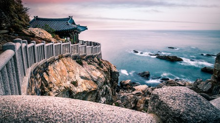 Hongryeonam Temple looks out over Korea's hotly contested East Sea