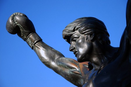 The Rocky statue by the art museum