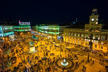 The Puerta del Sol, Madrid