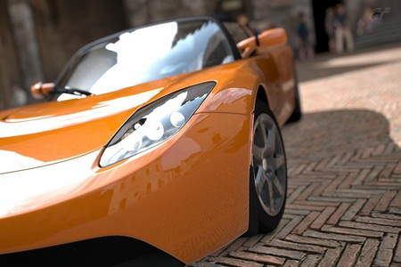 A Tesla Roadster