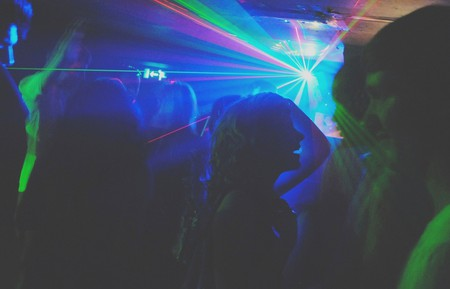 Laser show on the dance floor © Ralph Thompson