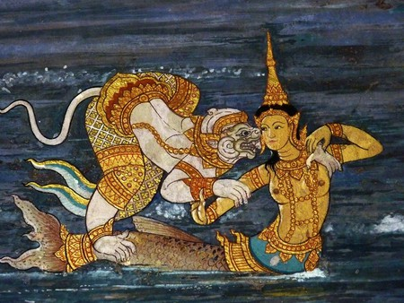 Scenes from the Ramakien, a famous Thai epic poem | © Anandajoti Bhikkhu / Flickr