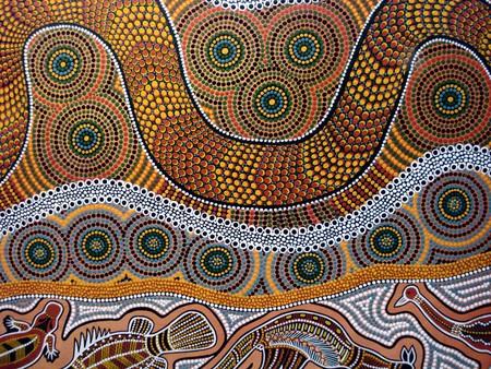 Traditional Aboriginal artwork