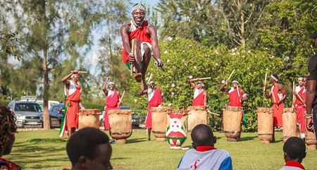 A traditional drum performance in Burundi