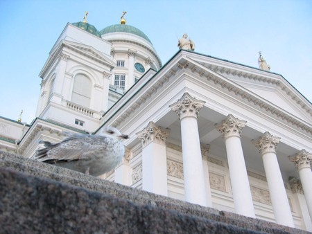 Helsinki Cathedral at the Senate Square in Helsinki, Finland.