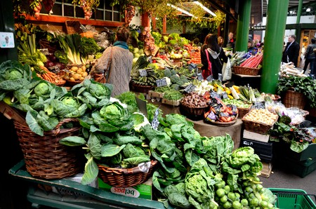 An array of vendors sell their goods at Borough Market