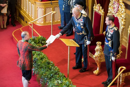 HRM The King of Norway at the Norwegian Parliament