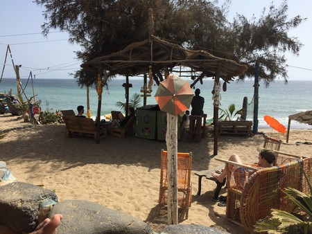 Dakar has many options for enjoying a relaxing drink in the sun, including Chez Max at the Plage des Mamelles