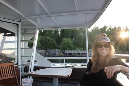 Enjoying lake life in Finland.