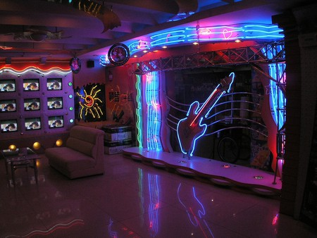 A typical karaoke bar in China