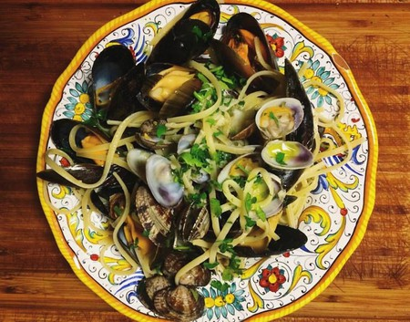 Linguine with mussels and clams at Casa Gio, Courtesy of Casa Gio