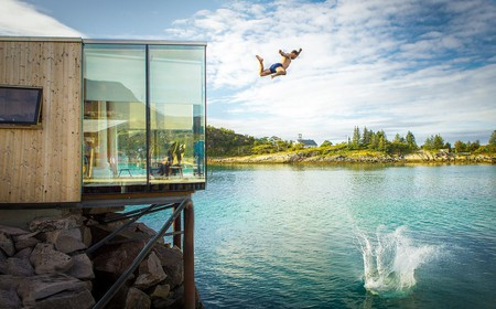 Living the life in one of Manshausen island's seacabins