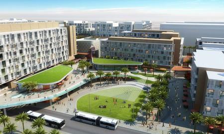 An artist's rendering of the Masdar neighbourhood development