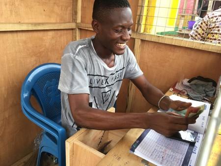 Mobile money agent in Accra